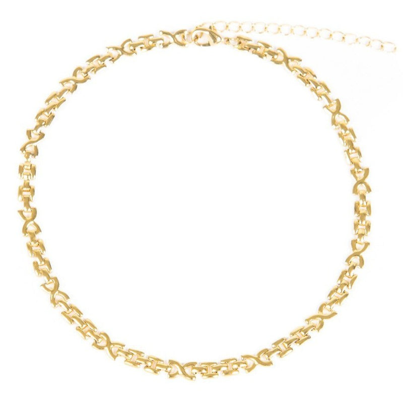 Women's Hera Choker Necklace Gold Goddess 3