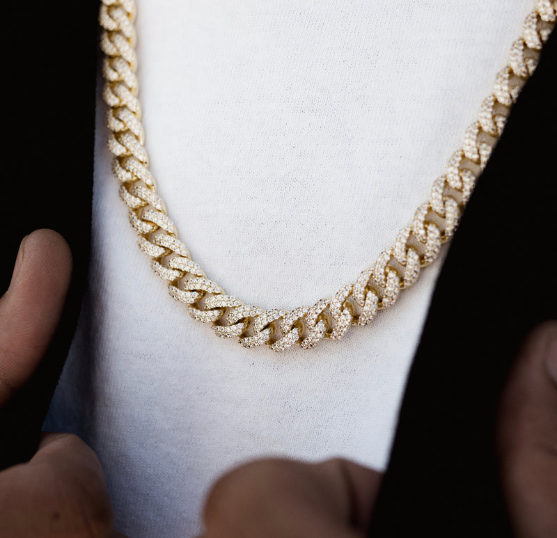 Diamond Cuban Link Chain 10mm Gold Gods®