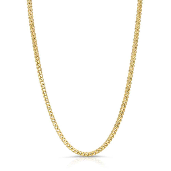 Solid Gold Franco Chain (Hollow) | Gold Gods 1