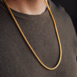 Franco Gold Chain 4mm Gold Gods® lifestyle look
