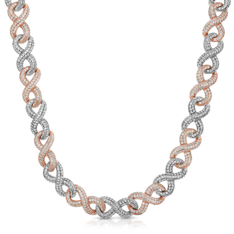 Diamond Infinity Link Chain Gold Golds® 2 tone