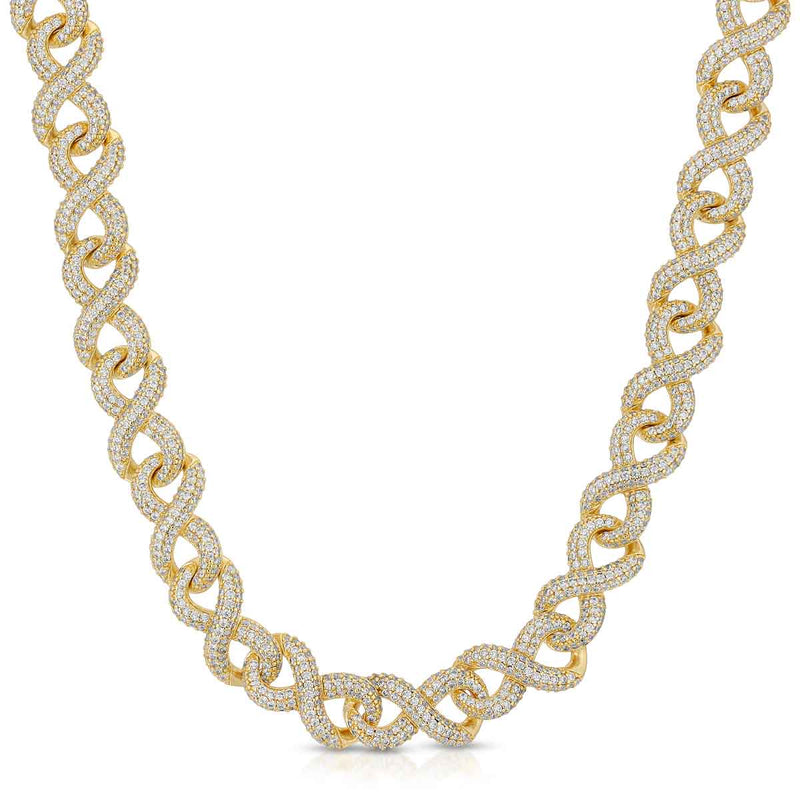 Diamond Infinity Link Chain Gold Golds® in gold