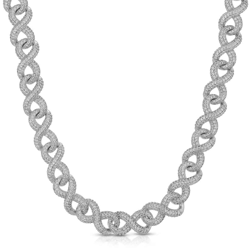 Diamond Infinity Link Chain Gold Golds® in white gold