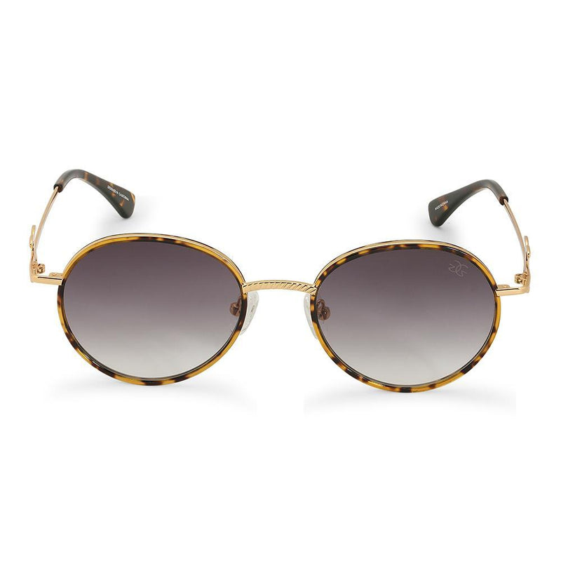 Gold Iris Designer Round Sunglasses Gold Gods® Black Gradient