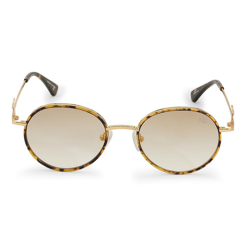 Gold Iris Designer Round Sunglasses Gold Gods® Brown Gradient