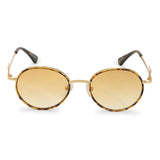 Gold Iris Designer Round Sunglasses Gold Gods® Orange Gradient