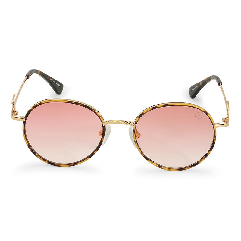 Gold Iris Designer Round Sunglasses Gold Gods® Red Gradient