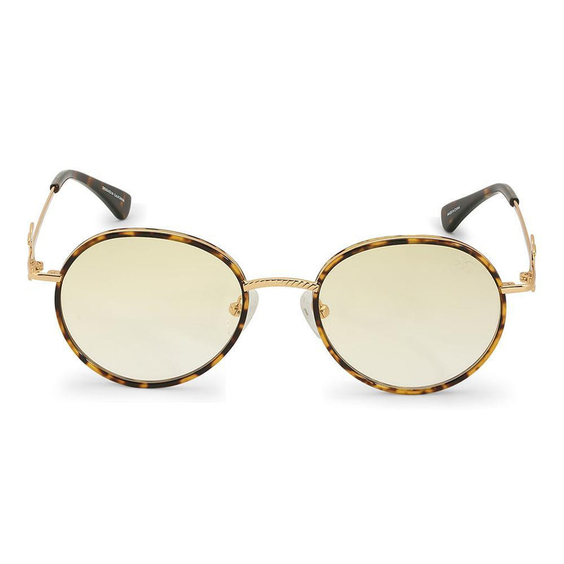 Gold Iris Designer Round Sunglasses Gold Gods® Yellow Gradient