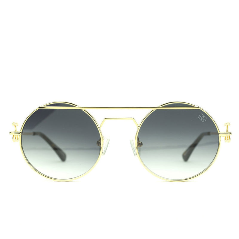 The Luminaries Gold Designer Sunglasses Gold Gods Black Gradient