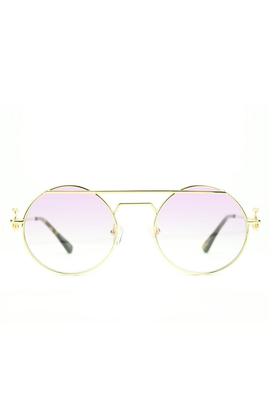 The Luminaries Sunglasses in Pink Gradient