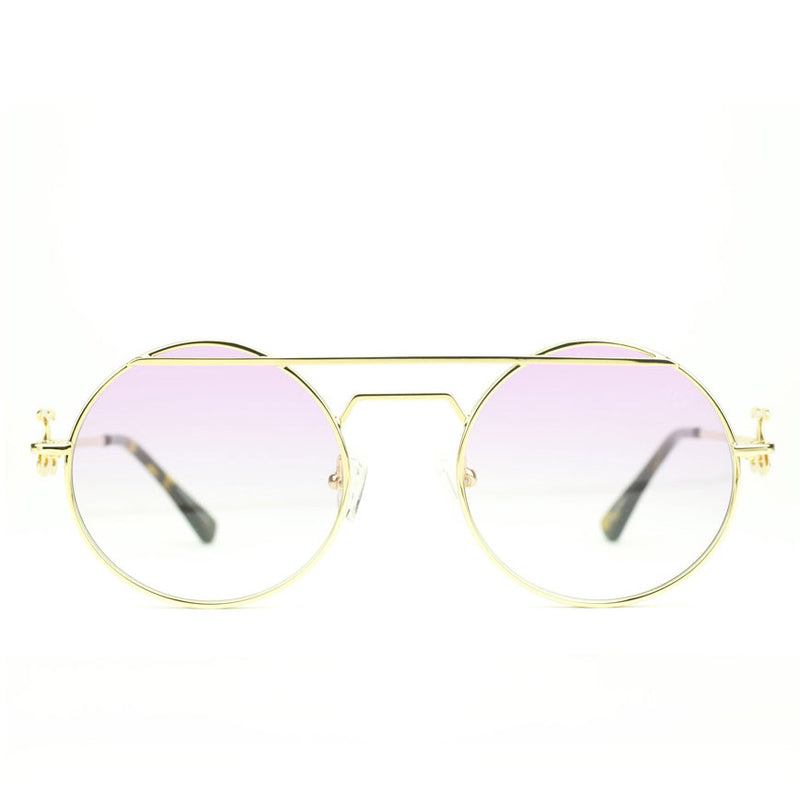 The Luminaries Gold Designer Sunglasses Gold Gods Pink Gradient