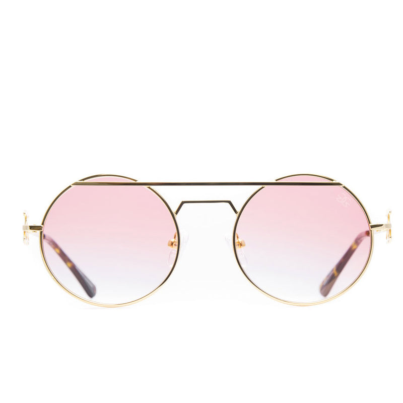 The Luminaries Gold Designer Sunglasses Gold Gods Red Gradient