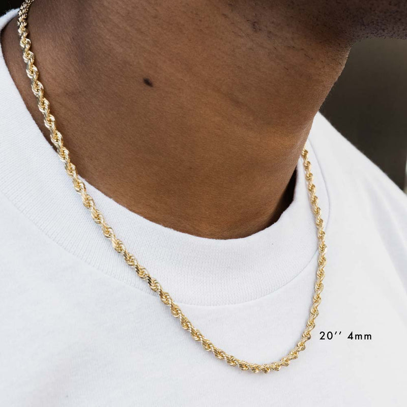 Solid Gold Hollow Rope Chain