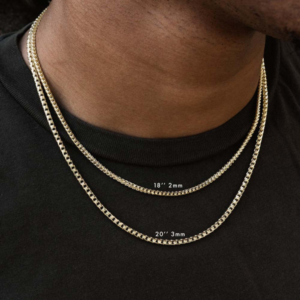 Solid Gold Curved Franco Chain Layered Gold Gods®