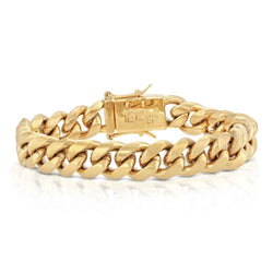 Miami Cuban Link Bracelet 12mm Gold Golds® in gold