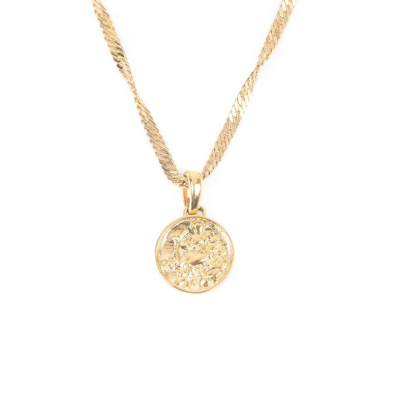 Women's Micro Zeus Ancient Coin Necklace 1