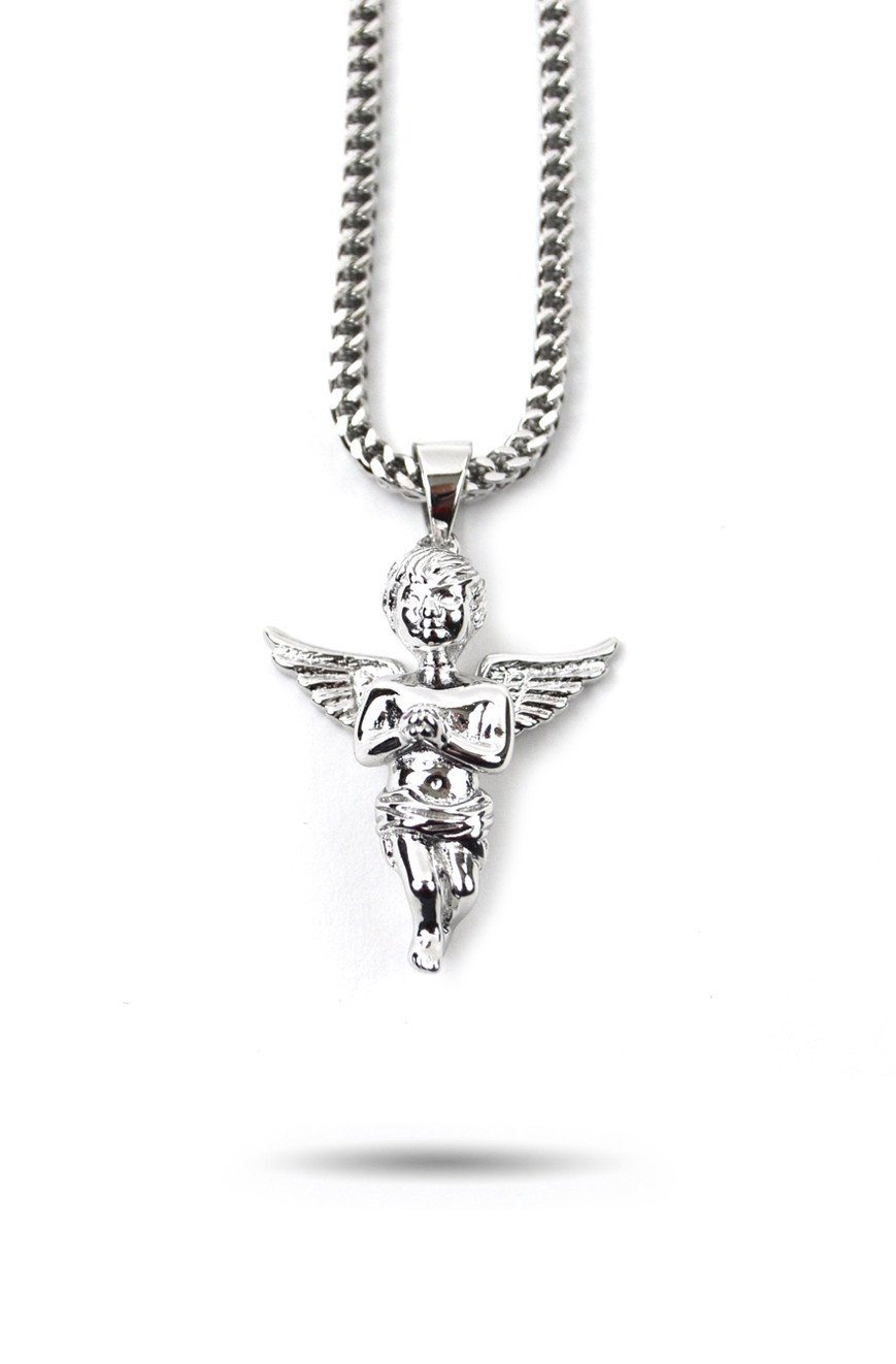 Micro Angel Piece in White Gold