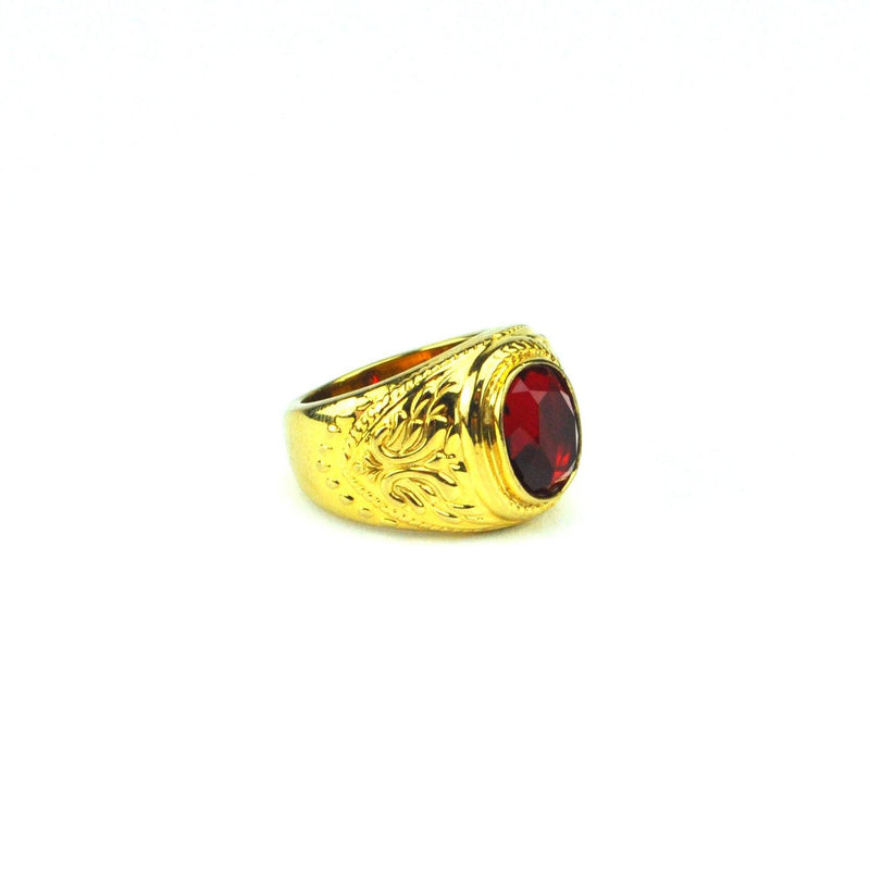 Gold Aura Ruby Ring