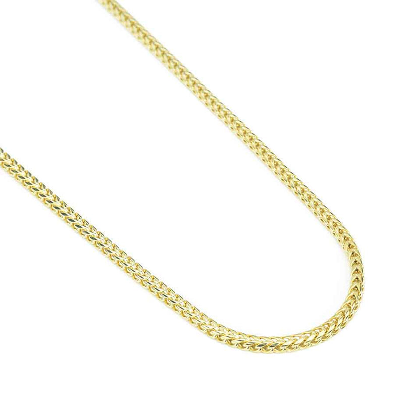 Women's 10k or 14k Solid Gold Curved Franco Chain