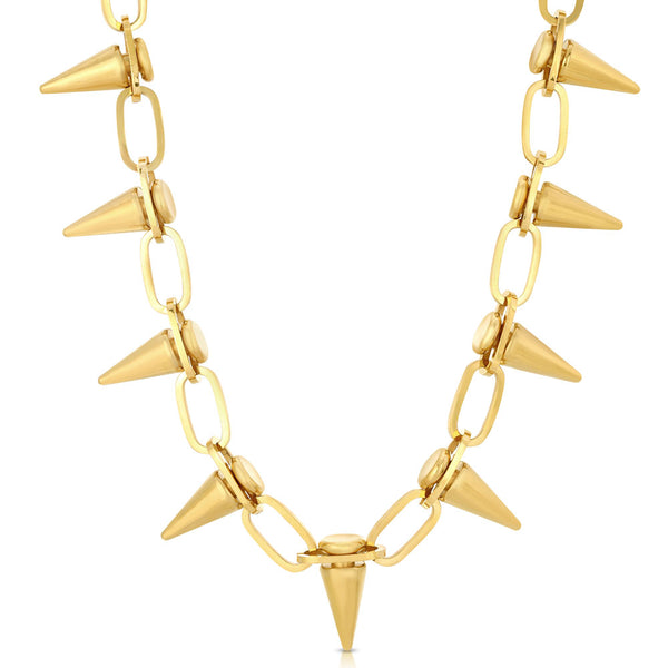 Gold Spiked Link Choker Chain Gold Gods 2