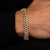 Diamond Spiked Laurel Cuban Bracelet Gold Gods®  lifestyle look