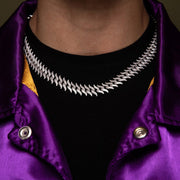 Diamond Spiked Laurel Cuban Chain