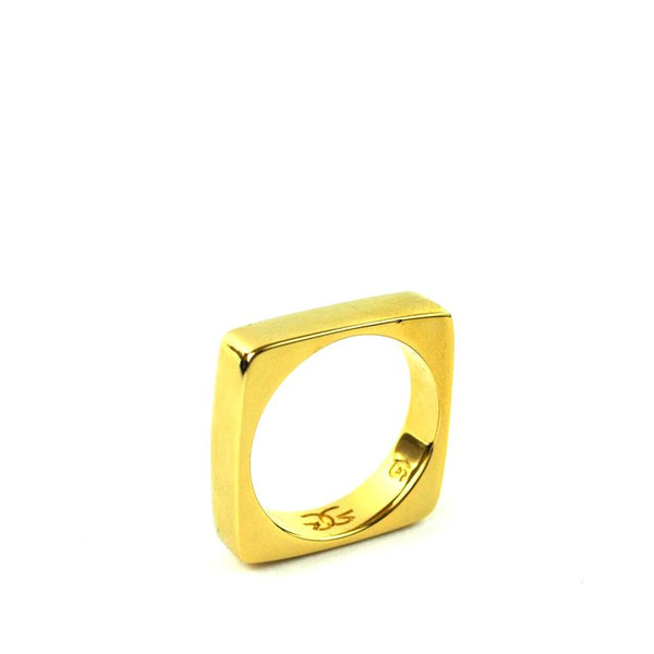 Gold Square Ring Gold Gods® side view