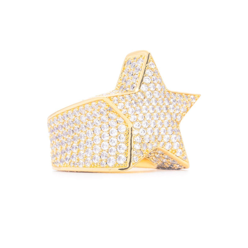 Diamond Star Ring in Gold Gold Gods® side view