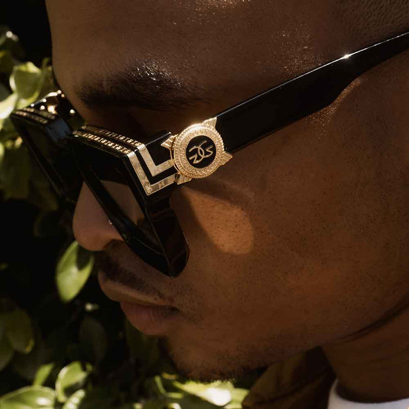 The Virgil Designer LV Sunglasses Gold Gods Black Side