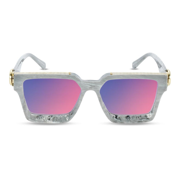 The Virgil Designer LV Sunglasses Gold Gods Gray Marble