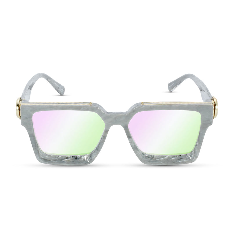 The Virgil Designer LV Sunglasses Gold Gods Gray Marble Multi Flash