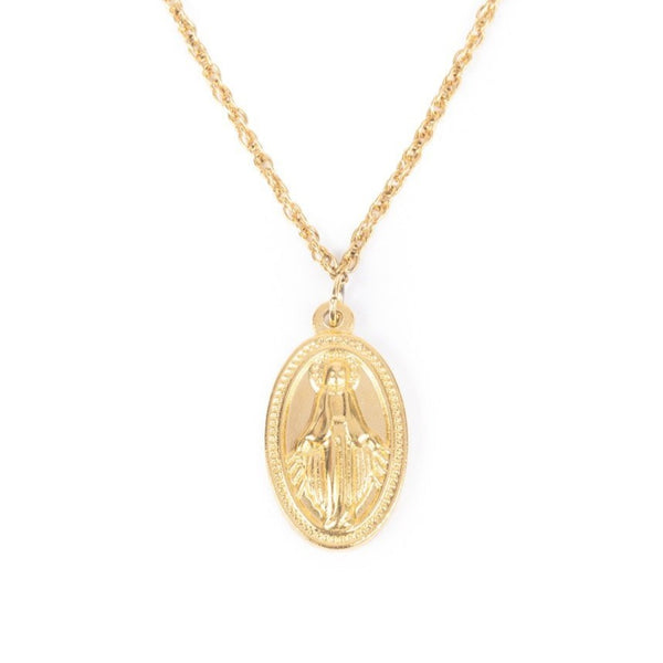 Women's Gold Virgin Mary Necklace 2