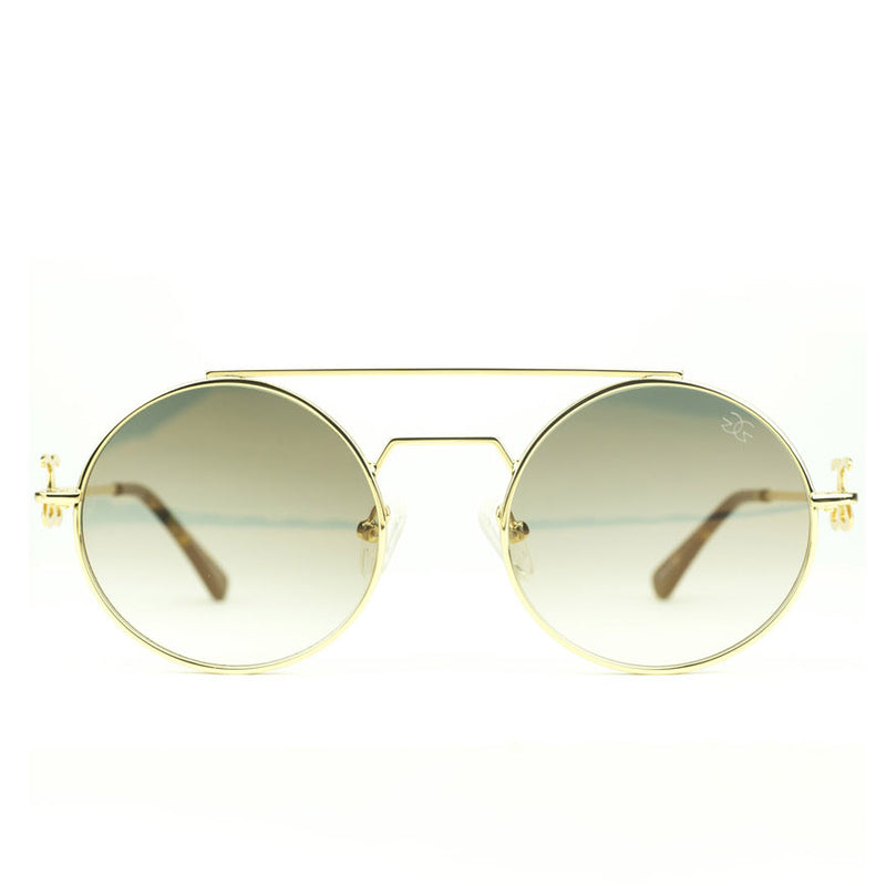 The Visionaries Gold Designer Sunglasses Gold Gods Brown Gradient