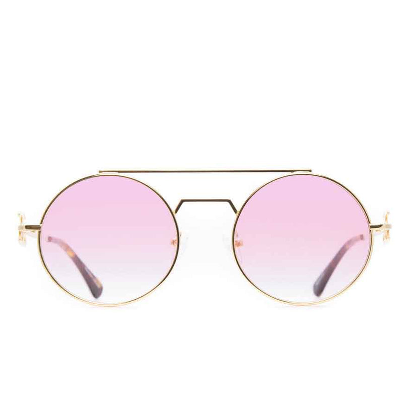 The Visionaries Gold Designer Sunglasses Gold Gods Pink Gradient