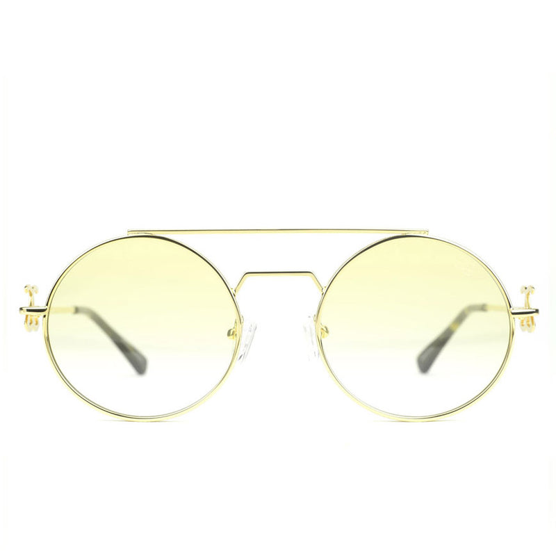 The Visionaries Gold Designer Sunglasses Gold Gods Yellow Gradient