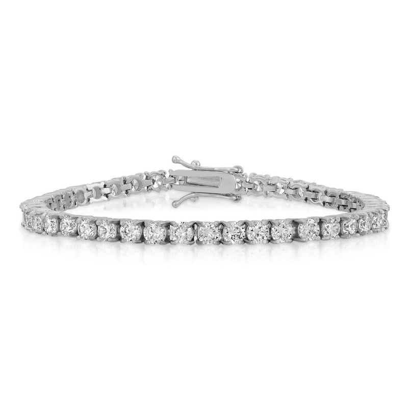 Diamond Tennis Bracelet in White Gold 4mm Gold Gods® Lifestyle look