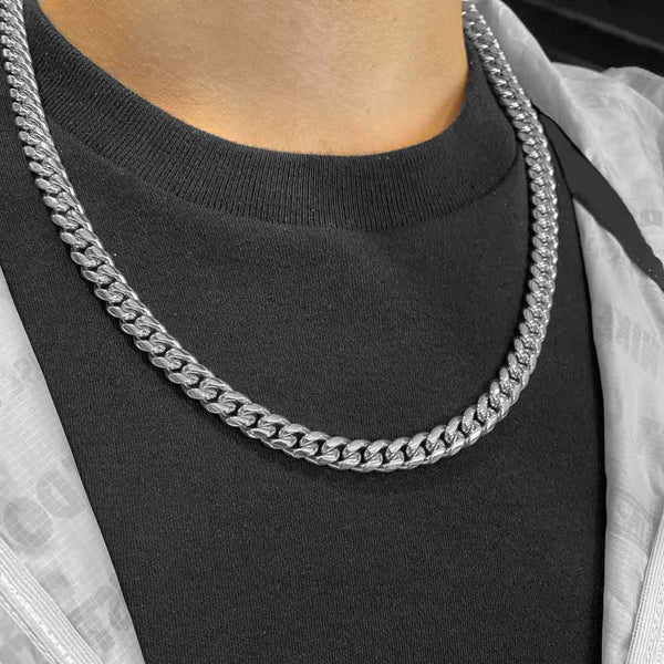 .925 Silver Miami Cuban Link Chain (8mm)