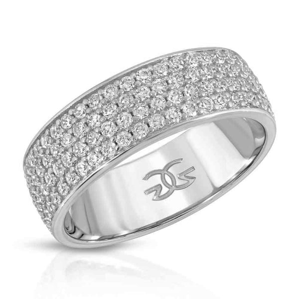 4 Row Micro Eternity Ring White Gold Gods 2