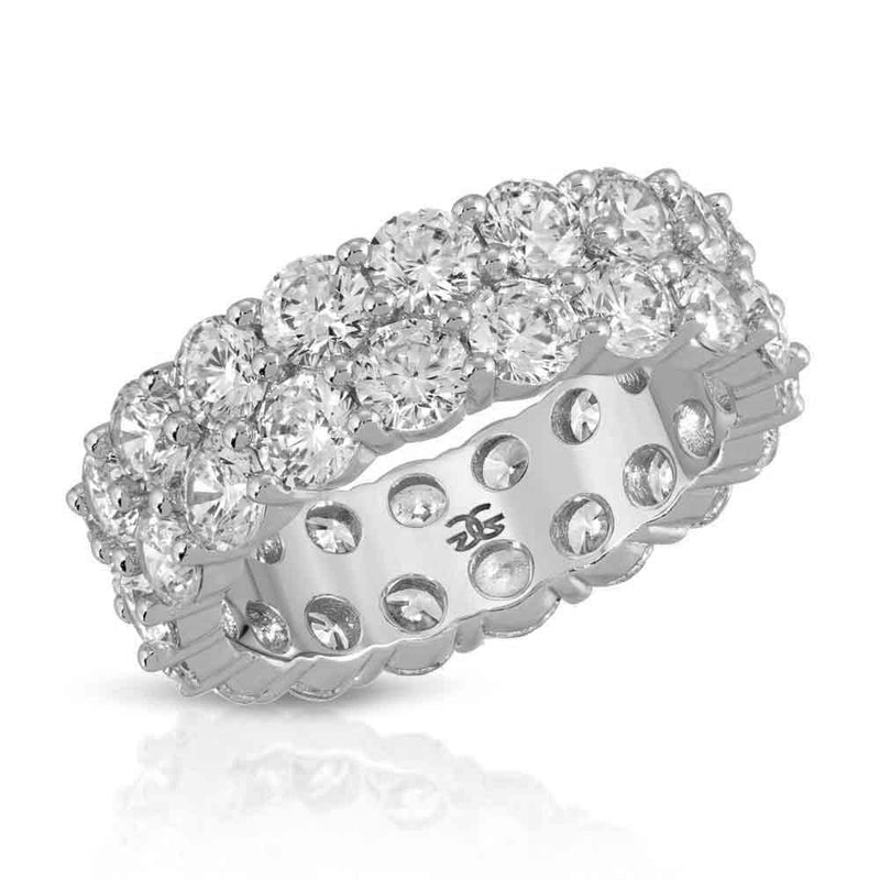 White Gold Diamond Dual Eternity Ring Gold Gods® Front