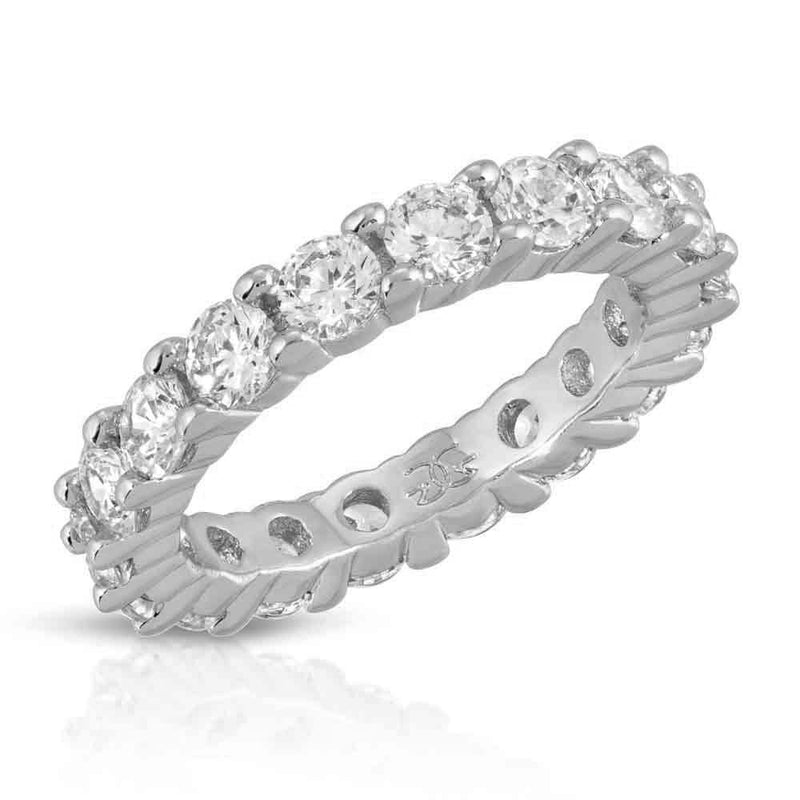 Single Diamond Eternity Ring Gold Gods® White Gold