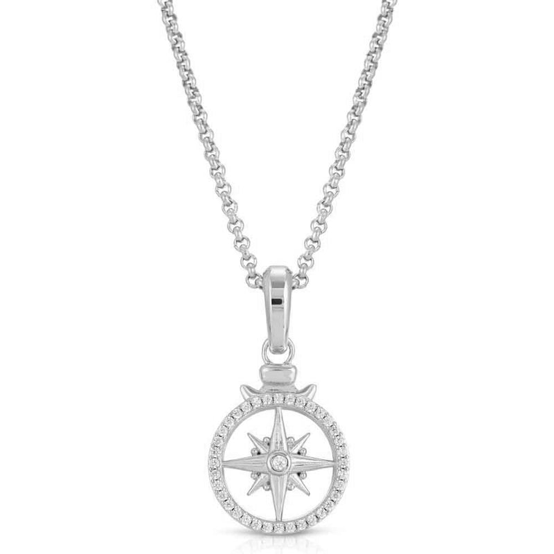 Micro Open Compass Necklace Pendant Gold Gods 7