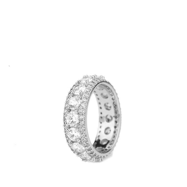 Diamond King's Eternity Ring in White Gold
