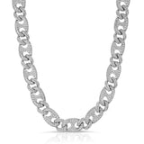 Diamond Cuban Gucci Link Chain Gold Golds® White Gold Chain