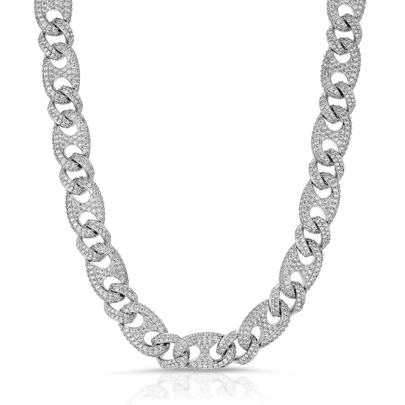 Diamond Cuban Gucci  Link Chain Gold Golds® in white gold