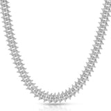 Diamond Cuban Spiked Chain Gold Golds®  lifestyle look front view 4