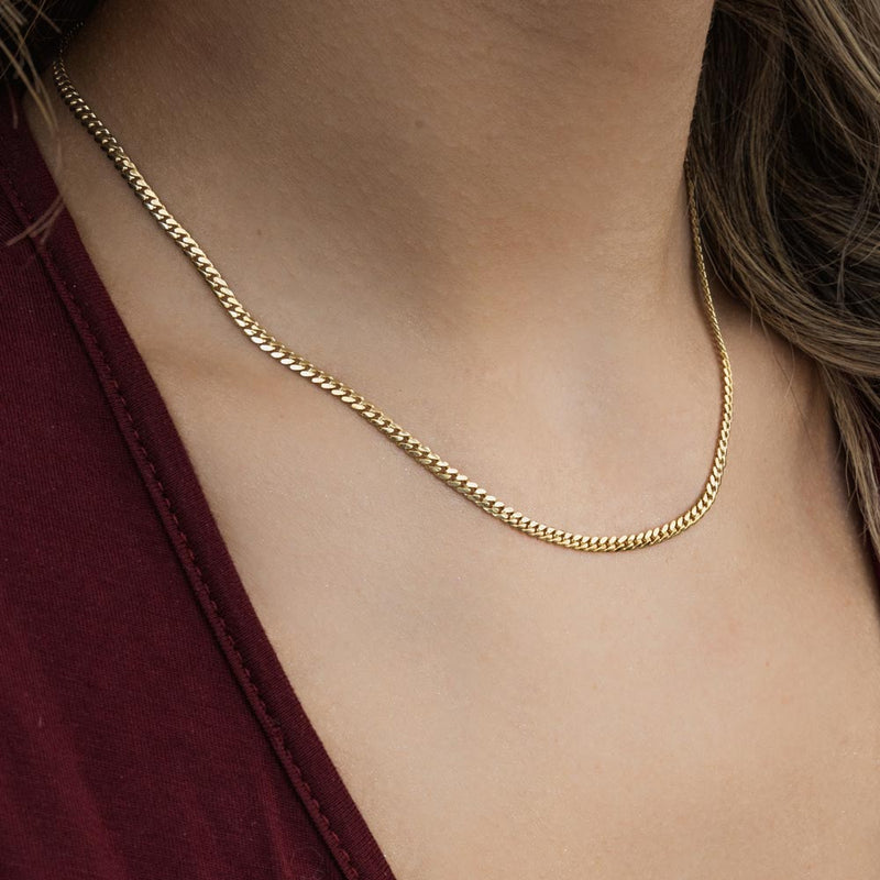 Women's Solid Gold Miami Cuban Link Chain Lifestyle Gold Gods®