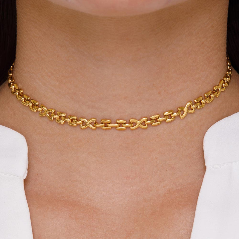 Women's Hera Choker Necklace Gold Goddess