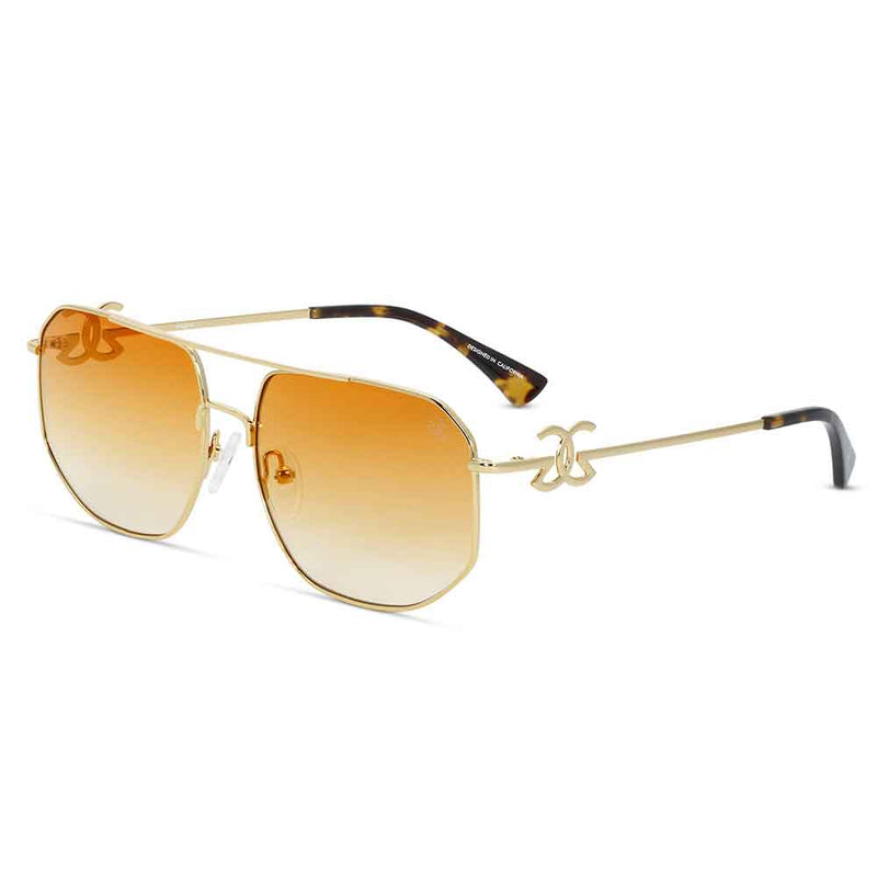 The Zelus Sunglasses Designer Vintage Gold Gods 9