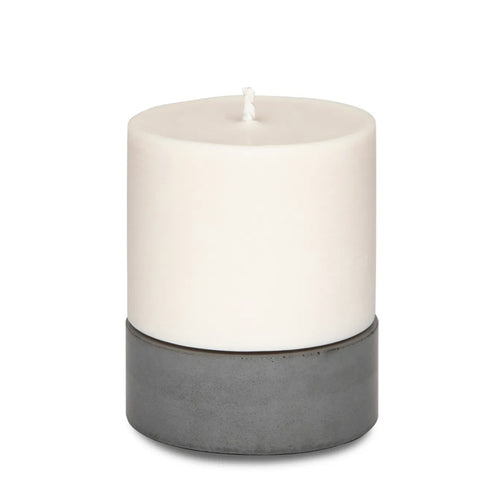 Concrete and Wax Hand Poured Soy Wax candle Large Candle Set grey
