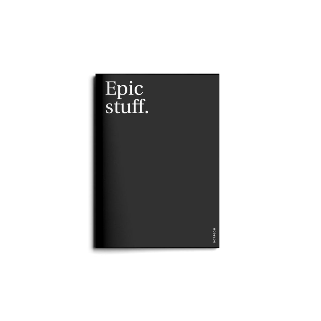 Epic Stuff Black Notebook Journal